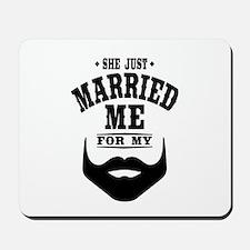 Married Beard Mousepad