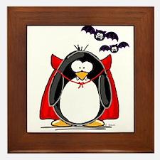 Dracula Penguin Framed Tile
