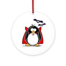 Dracula Penguin Ornament (Round)