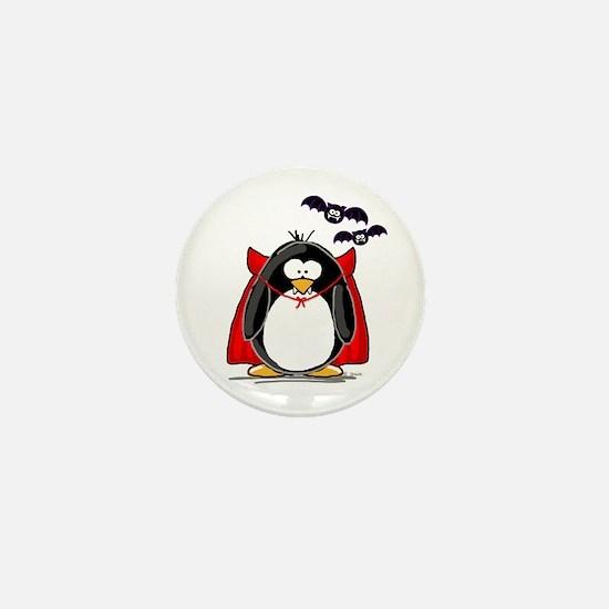 Dracula Penguin Mini Button