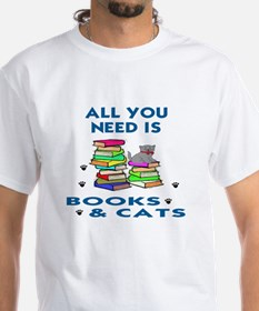 ALLYOU NEED IS BOOKS AND CATS Shirt