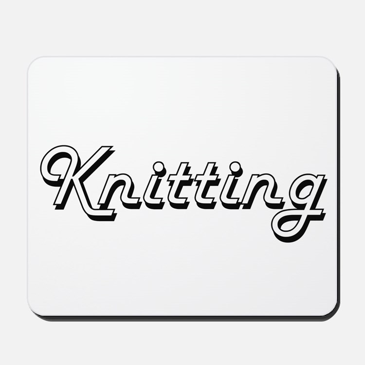 Knitting Classic Retro Design Mousepad