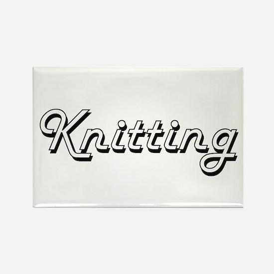 Knitting Classic Retro Design Magnets
