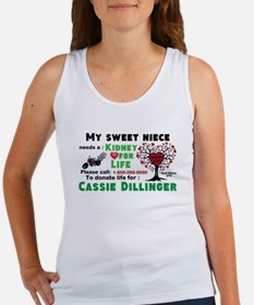 Personalize, Kidney Donation Women's Tank Top