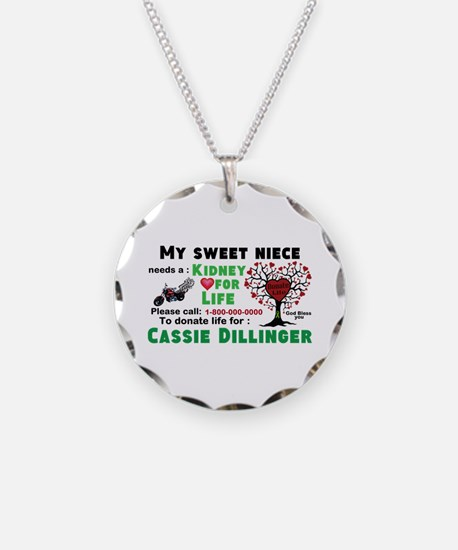 Personalize Kidney Donation Necklace