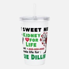 Personalize, Kidney Do Acrylic Double-wall Tumbler