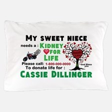 Personalize, Kidney Donation Pillow Case