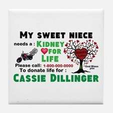 Personalize, Kidney Donation Tile Coaster