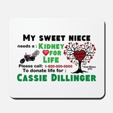 Personalize, Kidney Donation Mousepad