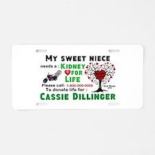 Personalize, Kidney Donatio Aluminum License Plate