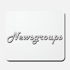 Newsgroups Classic Retro Design Mousepad