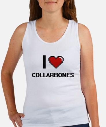 I love Collarbones Digitial Design Tank Top