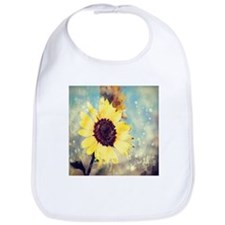 romantic summer watercolor sunflower Bib
