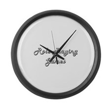 Role-Playing Games Classic Retro Large Wall Clock