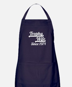 Trophy Wife Since 1974 Apron (dark)