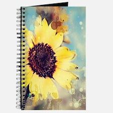 romantic summer watercolor sunflower Journal