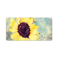 romantic summer watercolor Aluminum License Plate