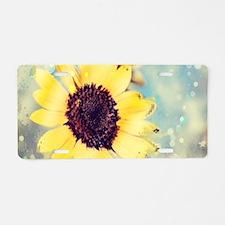 romantic summer watercolor Aluminum License Plate