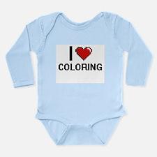 I Love Coloring Digitial Design Body Suit