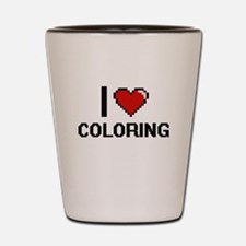 I Love Coloring Digitial Design Shot Glass