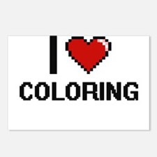 I Love Coloring Digitial Postcards (Package of 8)