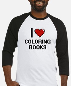 I love Coloring Books Digitial Des Baseball Jersey