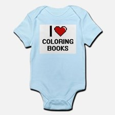 I love Coloring Books Digitial Design Body Suit