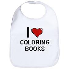 I love Coloring Books Digitial Design Bib