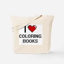 I love Coloring Books Digitial Design Tote Bag