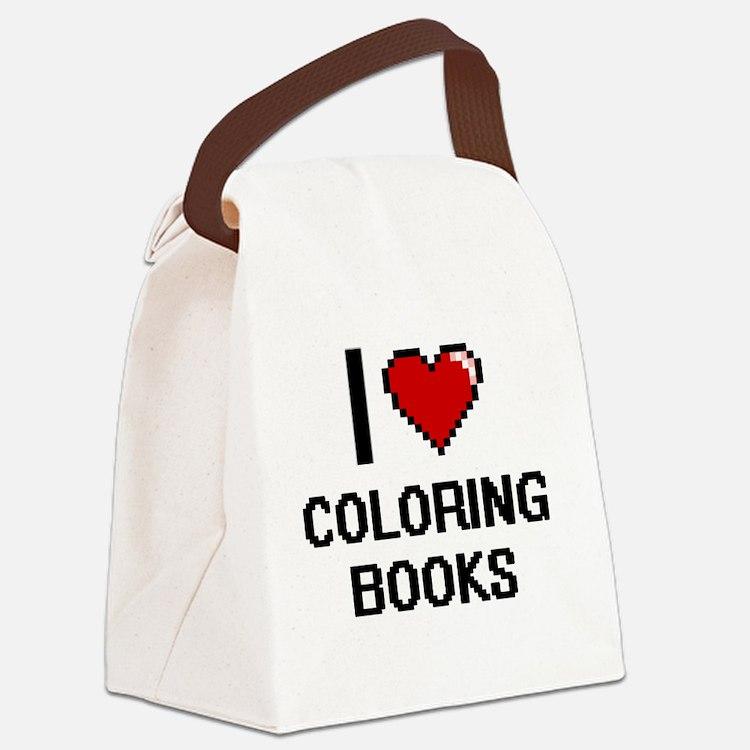 I love Coloring Books Digitial De Canvas Lunch Bag