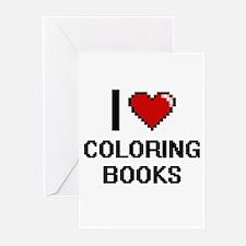 I love Coloring Books Digitial Desi Greeting Cards