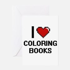 I love Coloring Books Digitial Desi Greeting Cards