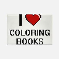 I love Coloring Books Digitial Design Magnets
