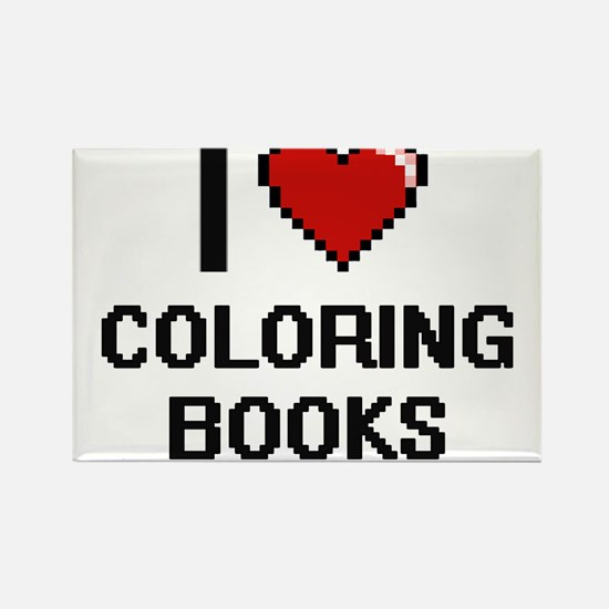 I love Coloring Books Digitial Design Magnets