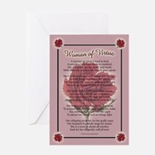 WOMAN OF VIRTUE Greeting Card