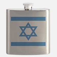 Square Israeli Flag Flask