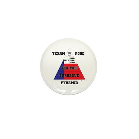 Texan Food Pyramid Mini Button (100 pack)