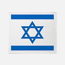 Square Israeli Flag Throw Blanket