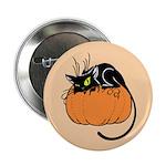 Cat w/ Pumpkin Button
