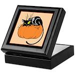 Cat w/ Pumpkin Keepsake Box