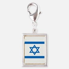 Square Israeli Flag Charms