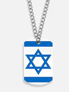 Square Israeli Flag Dog Tags