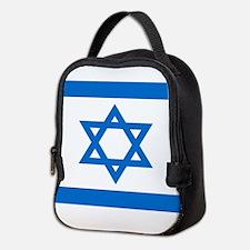 Square Israeli Flag Neoprene Lunch Bag
