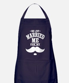 Married Stache Apron (dark)