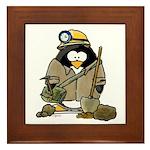 Miner Penguin Framed Tile