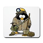 Miner Penguin Mousepad