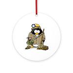 Miner Penguin Ornament (Round)