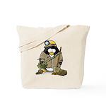 Miner Penguin Tote Bag