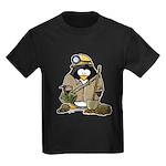 Miner Penguin Kids Dark T-Shirt