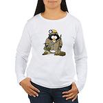 Miner Penguin Women's Long Sleeve T-Shirt